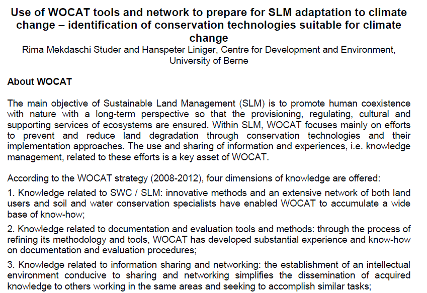 Use of WOCAT tools and network to prepare for SLM adaptation to CC.PNG
